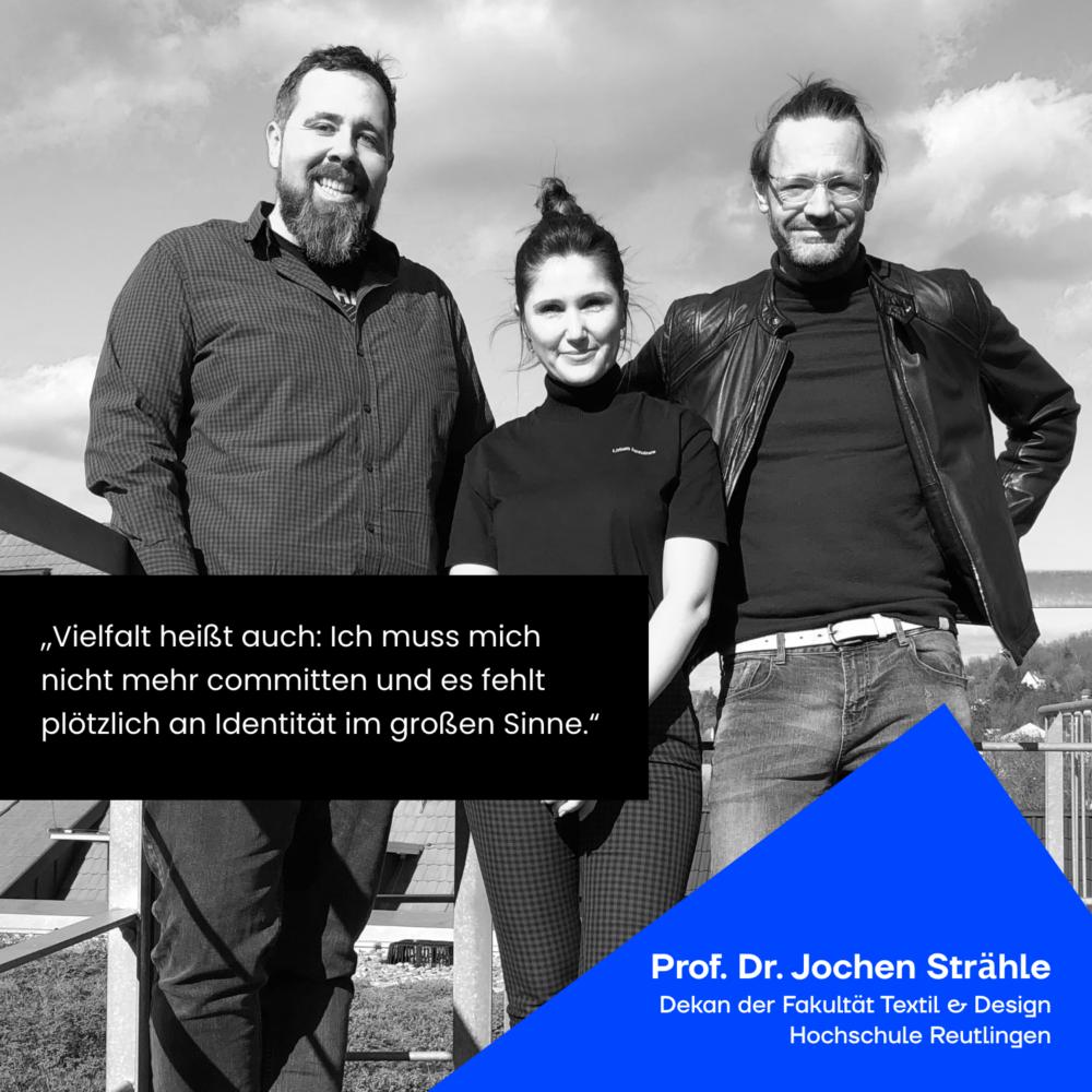 Gruppenbild Prof. Dr. Strähle mit den Moderatoren JAD