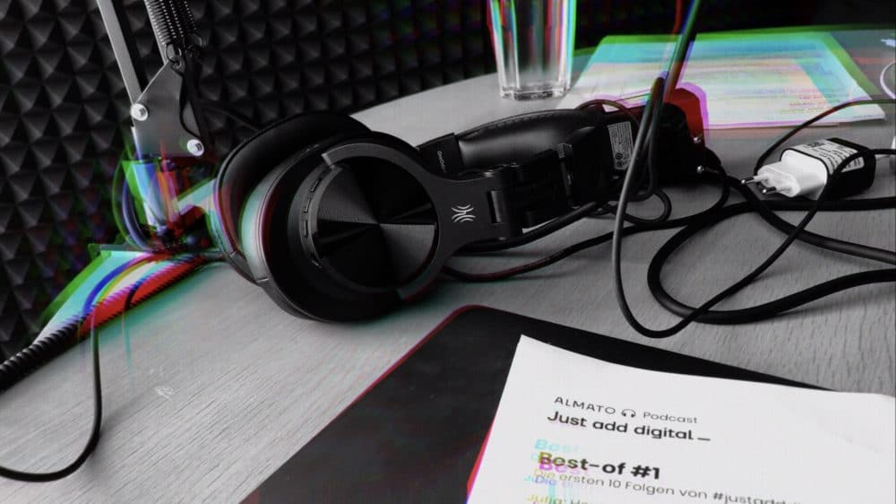 Podcastaufnahme Kopfhörer