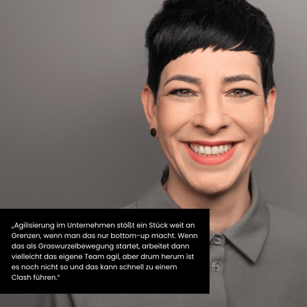 Julia Kümmel, Making things happen - Zitat Agilität