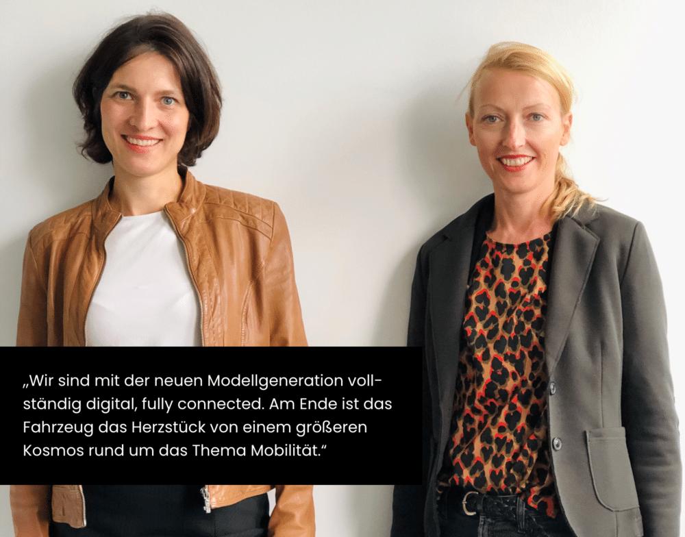 Zitat von Denise Heinermann-Bieler und Carolin Güthenke zu Mobility & Digitalisierung